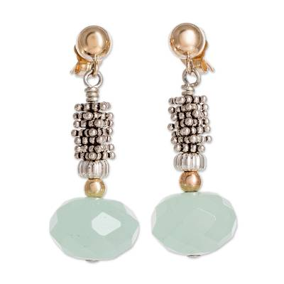 14k Gold Filled and Sterling Silver Chalcedony Earrings