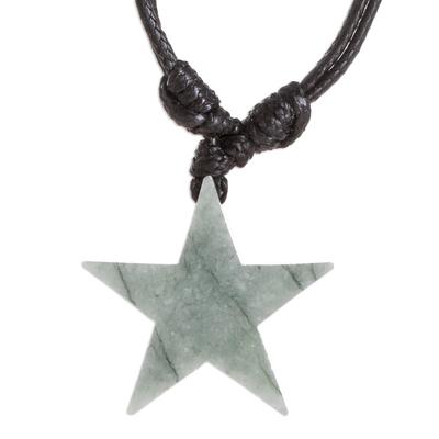 Natural Jade Star necklace