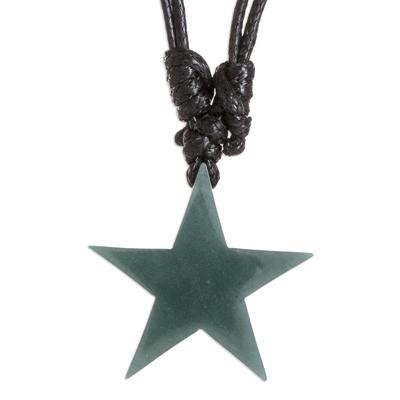 Natural Princess Jade Star Necklace