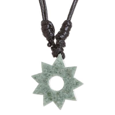 Light Green Jade Pendant Necklace