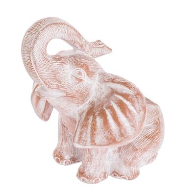 Brown Ceramic Elephant Planter