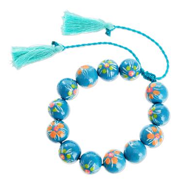 Turquoise Flower Motif Bracelet