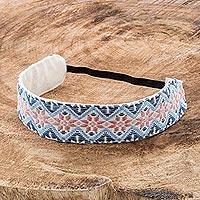 Cotton headband, 'Flower Fantasy' - Handloomed All Cotton Headband