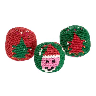 Christmas-Themed Hacky Sacks (Set of 3)