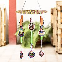 Wood worry doll mobile, 'Freedom Dolls'