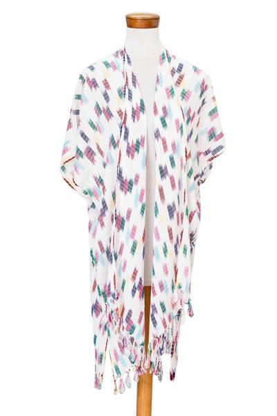 Fringed Rayon Ikat Jacket