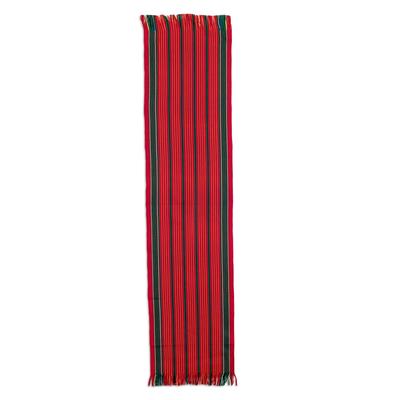Striped Christmas Table Runner