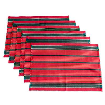 Handloomed Christmas Placemats (Set of 6)
