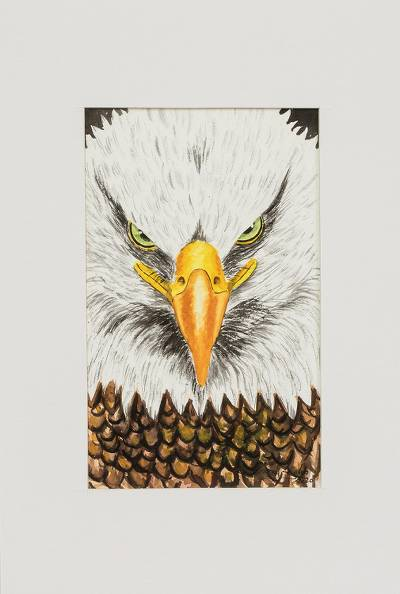 Original Eagle Painting from Guatemala