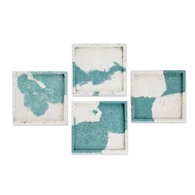 Modern Cement Coasters (Set of 4)
