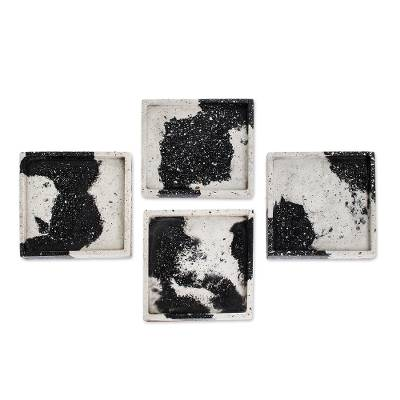 Square Cement Coasters (Set of 4)