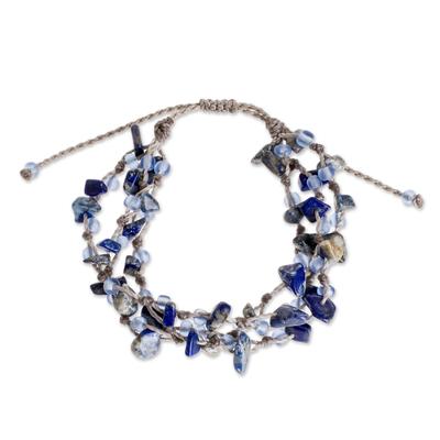 Beaded Lapis Lazuli Bracelet