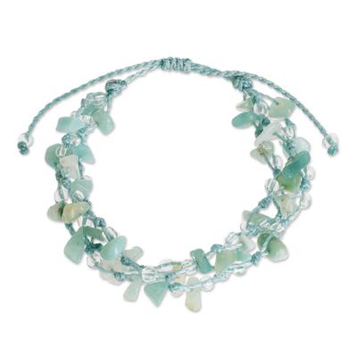 Natural Aquamarine Beaded Bracelet