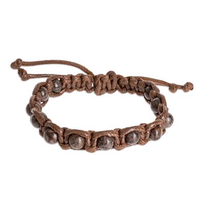 Artisan Crafted Obsidian Bead Bracelet