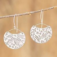 Sterling silver dangle earrings, 'Petal Paradise' - Floral Sterling Silver Earrings