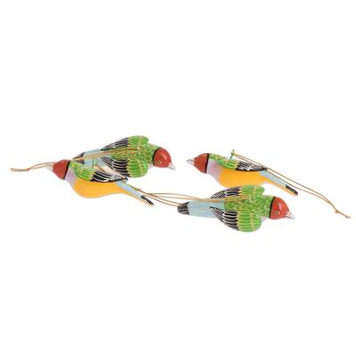 Gouldian Finch Christmas Ornaments (Set of 4)