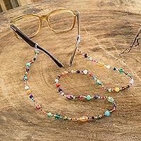 Beaded eyeglass lanyard, 'Sololá Festival'
