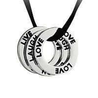 Circle of Love  - Breast Cancer Awareness Silver-Tone Hoop Necklace