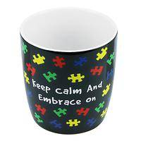 Embracing Autism - Keep Calm And Embrace On Ceramic Autism Awareness Mug
