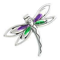 Fly Dragon Fly - Silver-tone Metal and Enamel Just Believe Visor Clip