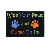 Warm Welcome  - Paw Print Indoor/Outdoor Mat