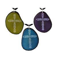 Sublime Faith  - Handmade Fairly Traded Cross Etched Tagua Nut Necklace