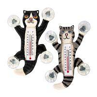 Climbing Cuteness  - Albesia Wood and Polyurethane Non-Mercury Kitten Thermometer