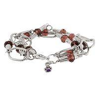 Bohemian Touch - Crystal and Links Paw Charm Bracelet