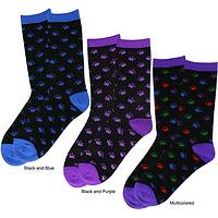 Cozy Kitty Toes - Cat-Themed Pawprint Multi-Color Socks