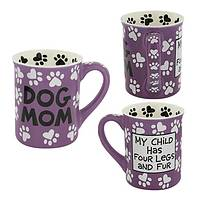 Loving Our Four-Legged Babes - Proud Dog Mom Handpainted Ceramic Mug