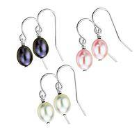 Pearly Drops - Handcrafted Sterling Silver and Freshwater Pearl Earrings