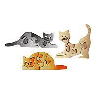 Puzzling Kitties - Handmade Fairly Traded Wooden Cat Puzzle Magnet