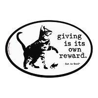Precious Giver  - Cat-Themed UV Protected Vinyl Car Magnet
