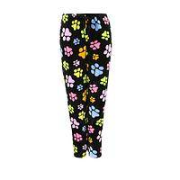 A Garden of Paw Prints - Pastel Paw Prints Fleece Drawstring Lounge Pants