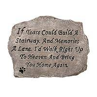Paw Prints in Heaven - If Tears Could Build A Stairway Animal Memorial Stone