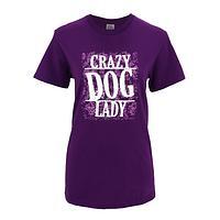 Unabashed Dog Lover - Crazy Dog Lady Purple Preshrunk Cotton T-Shirt