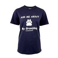 Proud Doggy's Grandparent - Ask Me About My Granddog Puppy Pride T-Shirt