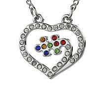 Pieces of Love - Autism Awareness Heart & Puzzle Piece Pendant