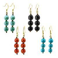 Haitian Heartline Creations - Eco-Friendly Recycled Fabric Dangle Earrings