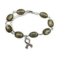 Exquisite Hope - Foil-Enhanced Murano Glass Beads Diabetes Awareness Bracelet