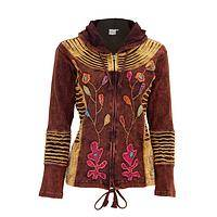 Mother Earth - Stunning Handcrafted Garden of Delight Hooded Jacket