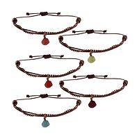 Rainforest Radiance - Handmade Tagua and Leather Bracelet from Colombia