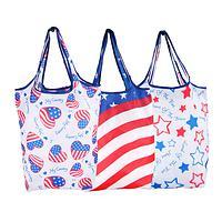 Sweet Land Of Liberty - American Patriot Folding Shopping Bag Set