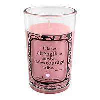 Let Your Light Shine - Strength and Courage Pink Vanilla-Scented Candle