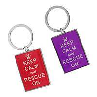 Called To Rescue - Keep Calm And Rescue On Metal & Enamel Keychain