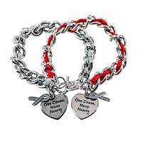 Weaving Us Together - One Cause, Many Hearts Ribbon-Woven Chain Diabetes Bracelet