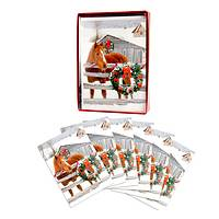 Yuletide Horse Box of 15 Cards - Box of 15 Christmas Cards featuring a Holiday Horse