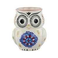 Who Who wants this mug? - Ceramic Owl Shaped Mug with Folk Art Appeal