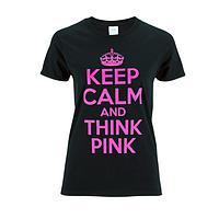 Calm Pink - Inspiring Pink & Black T-Shirt