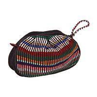 Rainbow Ribbons - Handmade Woven Pouch with Vibrant Stripes